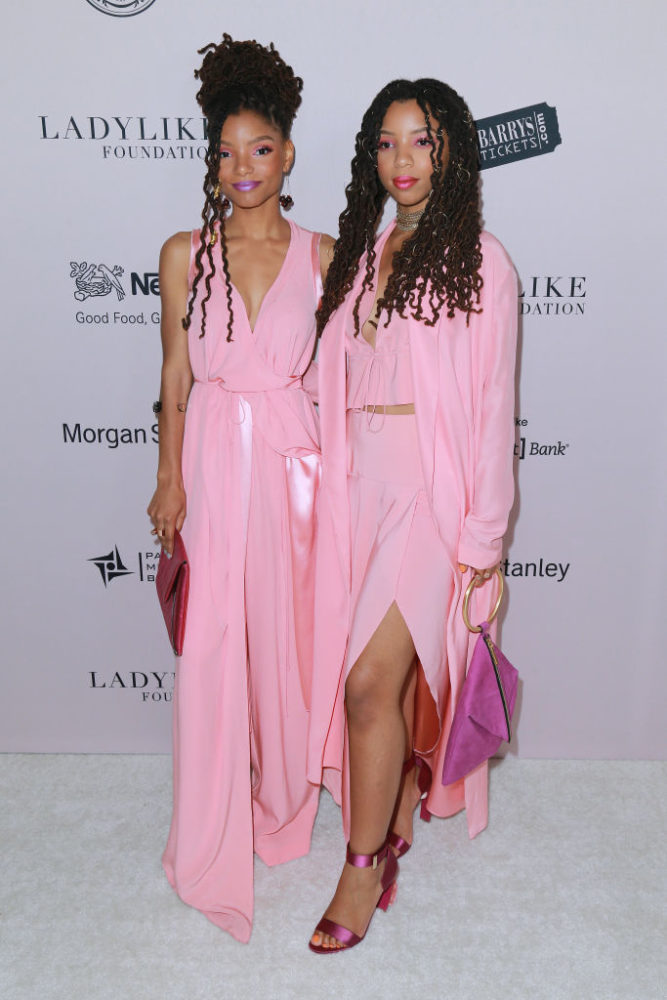 Chloe X Halle Are Pretty In Pink At The Ladylike