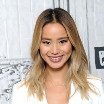 Jamie Chung's off-the-shoulder lace frock is now at the center of our summer inspiration board