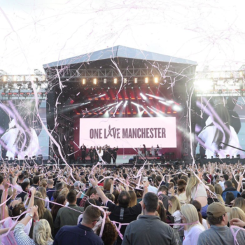 The internet is melting over this specific moment from the Manchester benefit concert