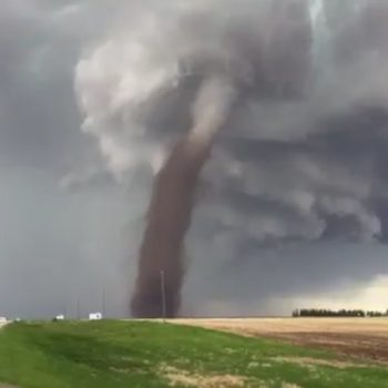 This man mowed his lawn during a tornado like the truest badass who ever lived