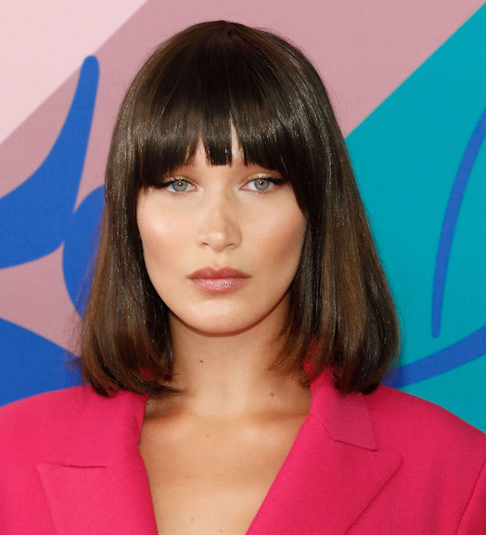 Bella Hadid rocked frangs, aka fake bangs, at the CFDA Awards