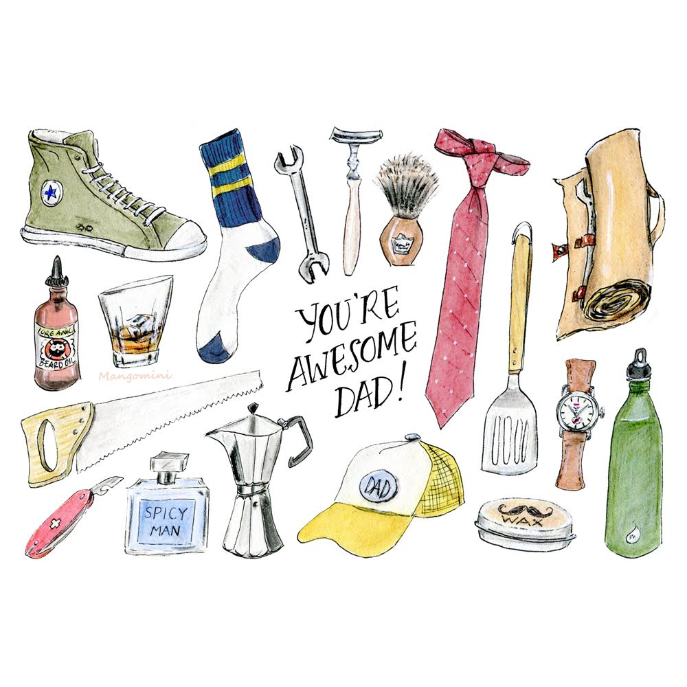 Everything your dad actually wants for Father's Day, illustrated