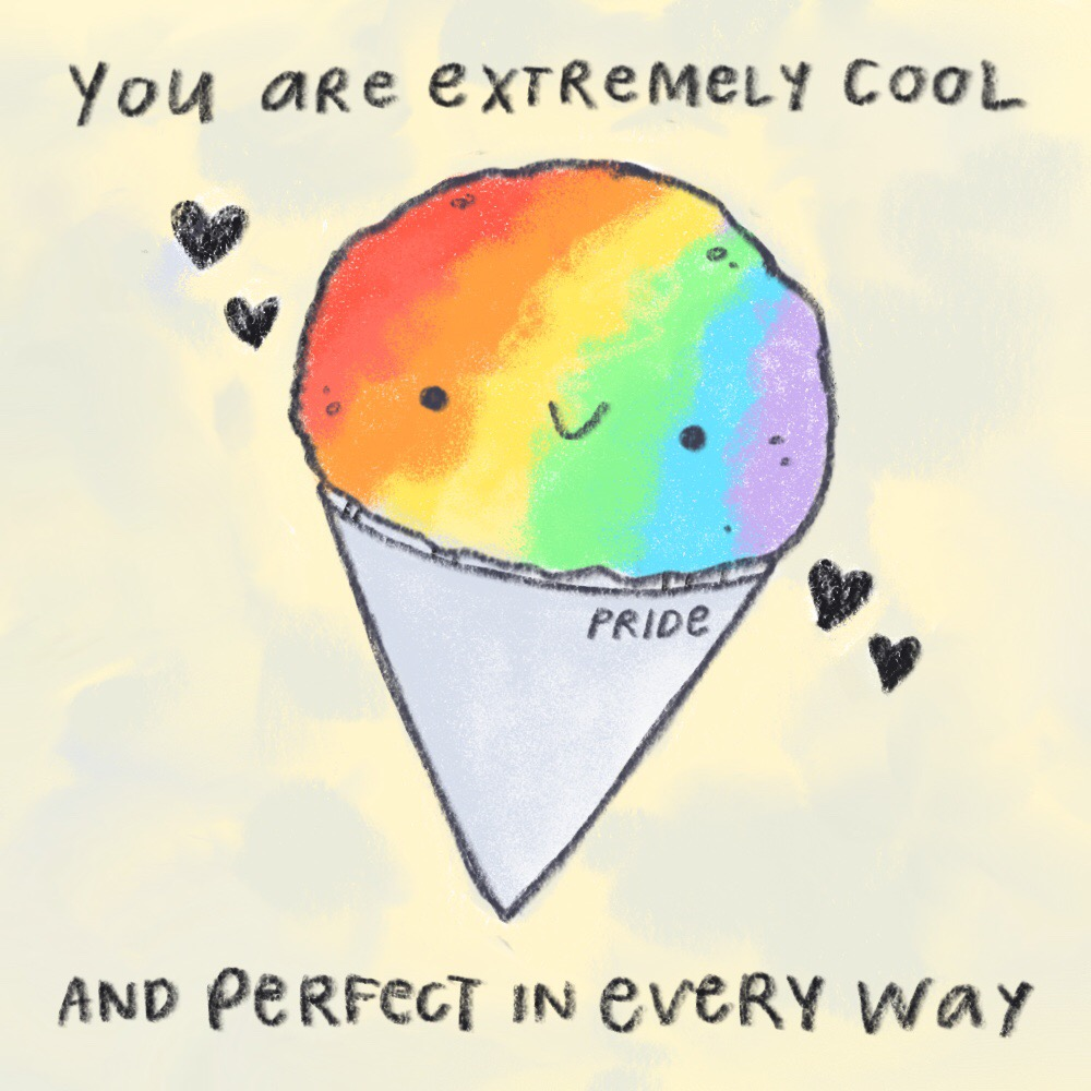 It's Pride Month, and this snow cone is just as excited as you are