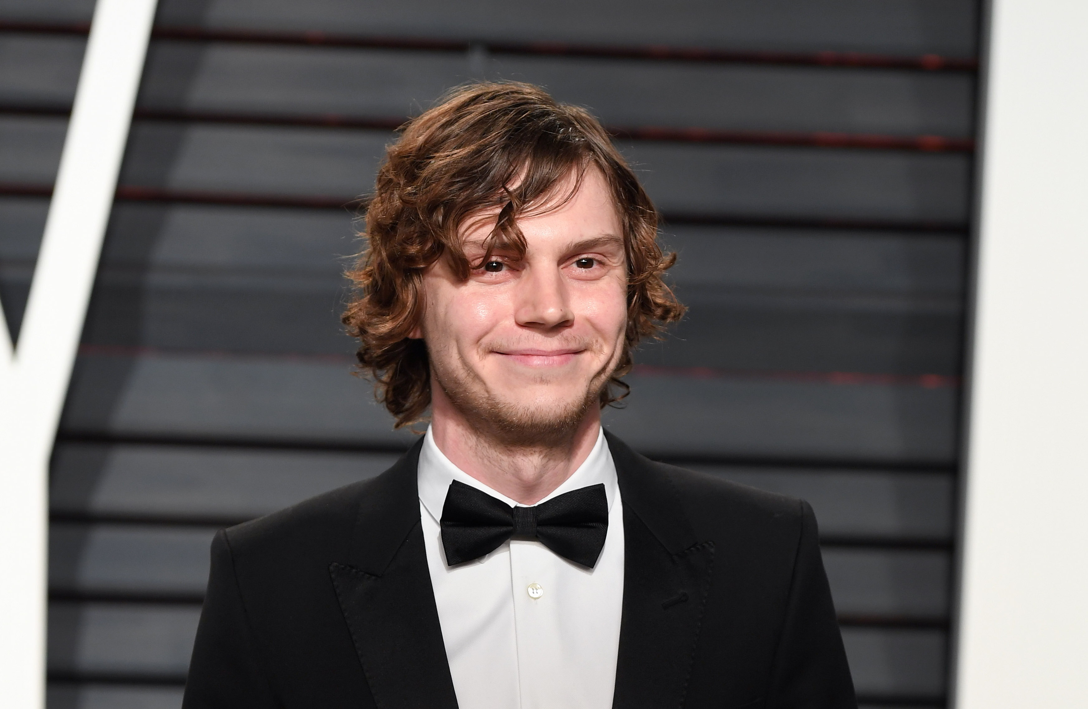 "Not so fast, now Evan Peters has *purple* hair for ""American Horror Story"""