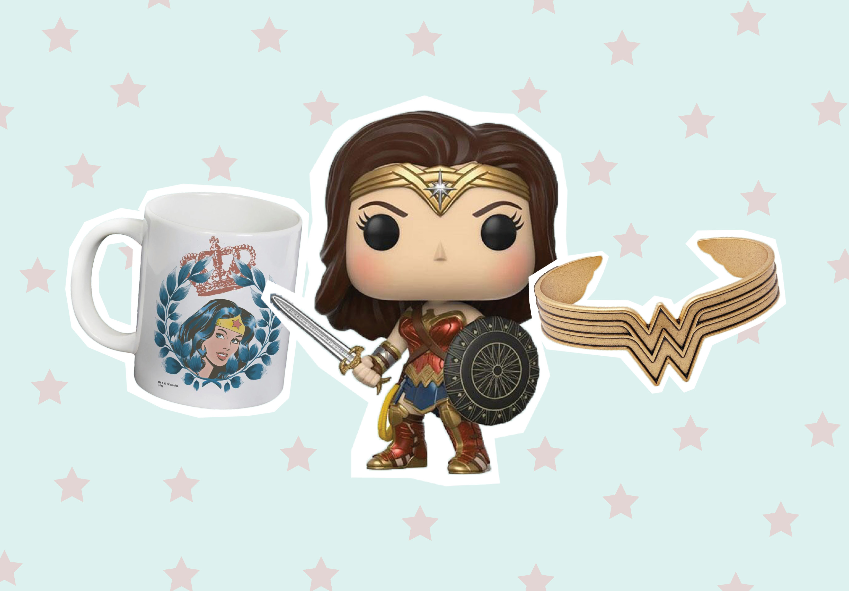"The official ""Wonder Woman"" merchandise shop is now open, and byeeeeee, money"