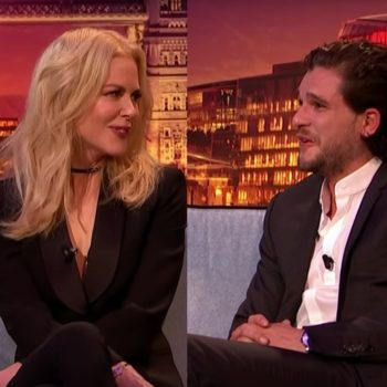 Nicole Kidman told Kit Harington he needs to propose to Rose Leslie, and we're like, ditto