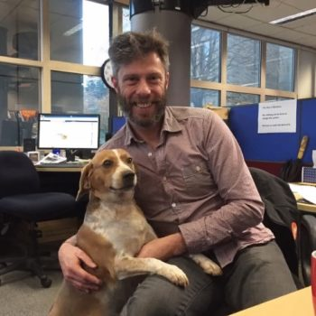 This lost dog followed his owner's scent all the way to his office