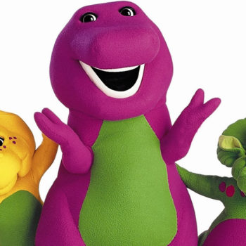 The IRL person who played Barney just revealed what it was *really* like to play a giant purple dinosaur