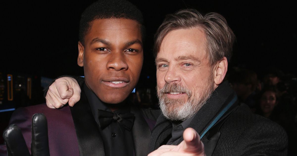 "Fans thought John Boyega accidentally slipped some ""Star Wars"" spoilers, and Mark Hamill had the funniest response"