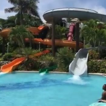 This grown man on a water slide is officially Twitter famous, and you just have to see him in action