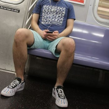 This city banned manspreading on public transportation, so maybe these dudes will finally take a hint