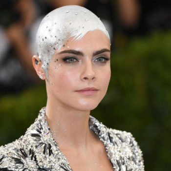 This little girl recreated Cara Delevingne's silver shaved head after losing all her hair to chemo