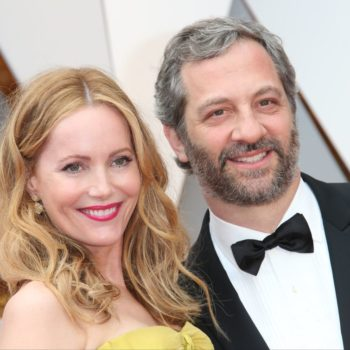 Judd Apatow and Leslie Mann's throwback wedding photo is the cutest thing ever