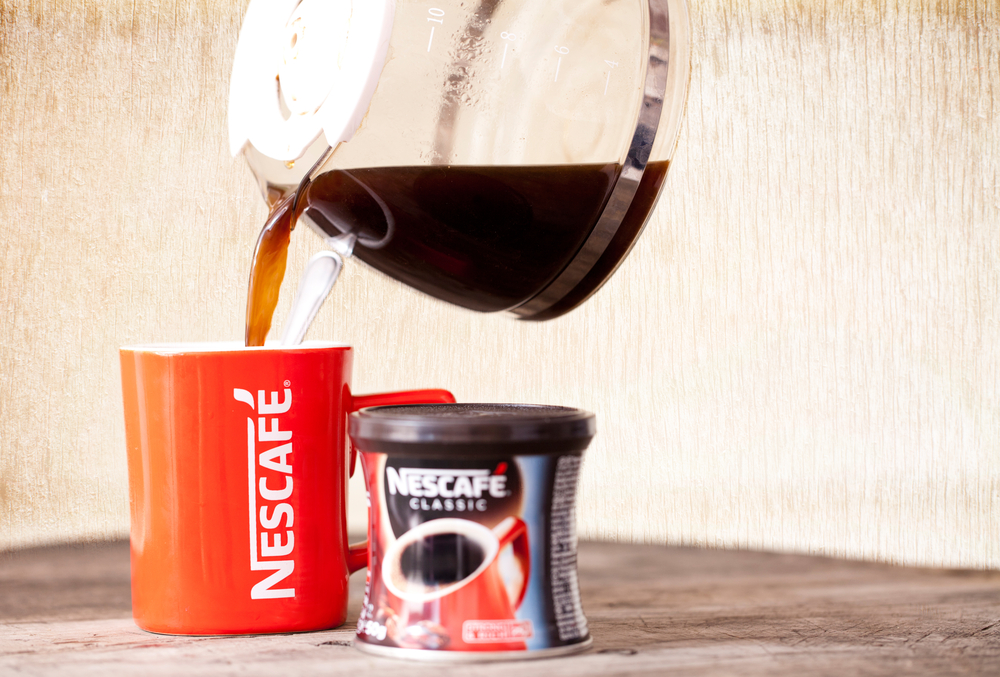 There's a Nescafe coffee shop now, and it comes with a side of humor