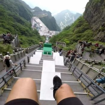 A new POV video of the biggest parkour course in the world is pure adrenalin