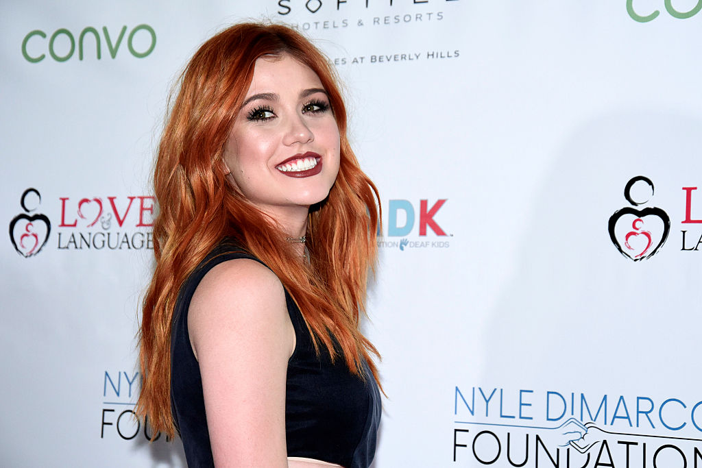 """Katherine McNamara's """"Cars 3"""" jumpsuit was a subtle tribute to the checkered flag"""