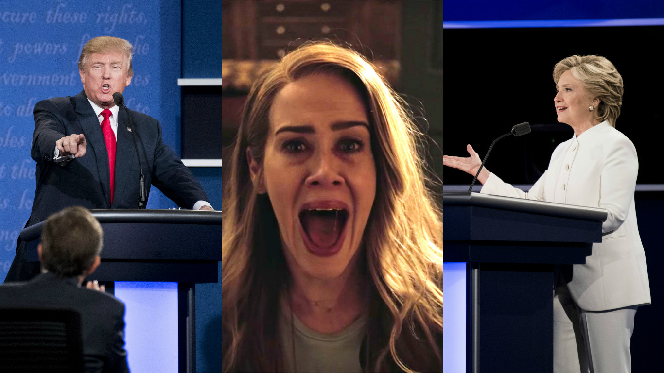 "Welp, it's confirmed, we're going to see Donald Trump and Hillary Clinton in this season of ""American Horror Story"""