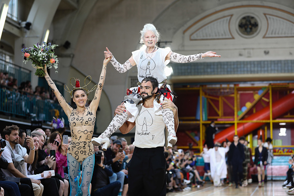 Legendary designer Vivienne Westwood's latest runway show is an ode to fighting injustice