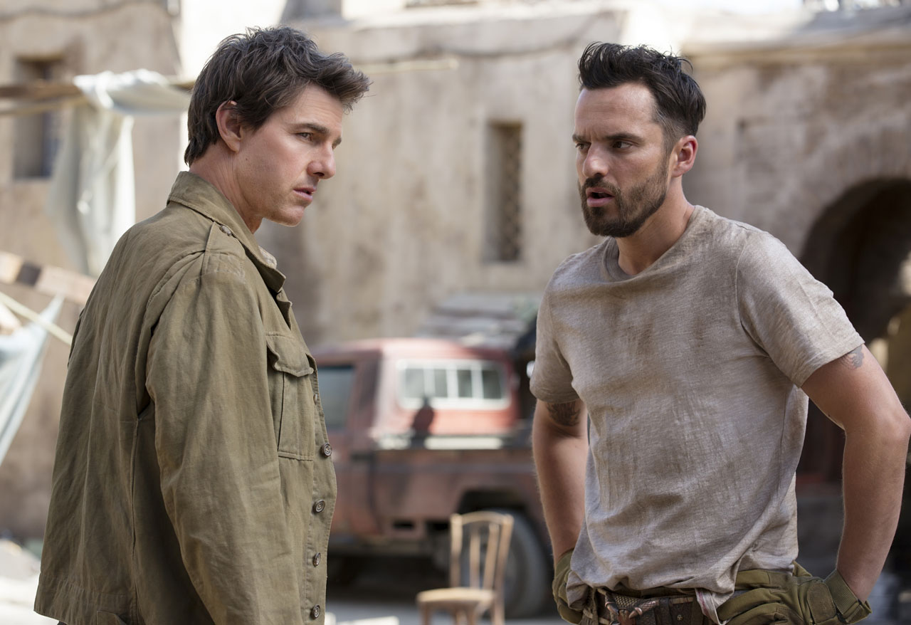 """Tom Cruise had a few polite demands for Jake Johnson while filming """"The Mummy"""""""