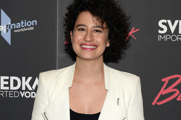 "Ilana Glazer is serving up business glam in this plunging neckline at the ""Rough Night"" premiere"