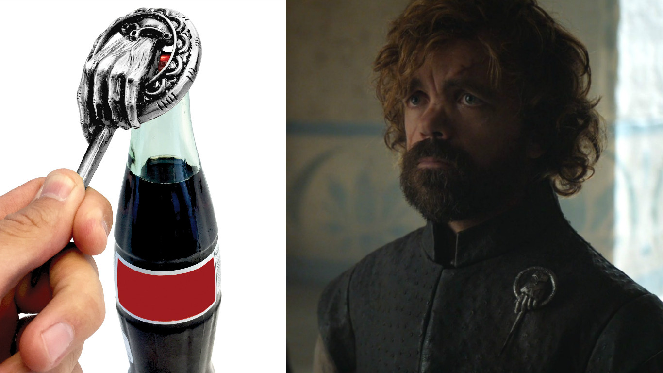 "This ""Game of Thrones"" Hand of the Queen bottle opener will show everyone that you drink and *also* know things"