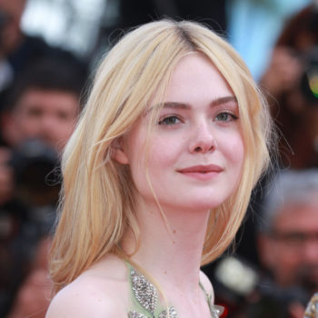 "Elle Fanning's gown at ""The Beguiled"" premiere looks like a suit of beaded armor"