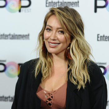Hilary Duff wore a fiery red dress — and we finally know where to buy it
