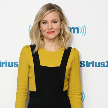 Kristen Bell embraced the corset trend with this business casual jumpsuit