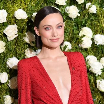 Olivia Wilde shows us how to make puffed sleeves work with a nude illusion dress