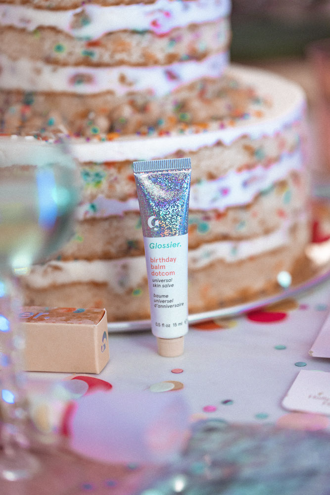 Get your sweet tooth ready, because Glossier's new Birthday Balm Dotcom launched today