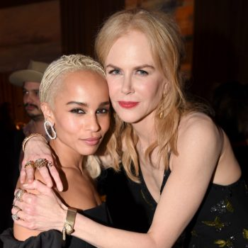 """Zoë Kravitz talks about living with her dad and Nicole Kidman long before they reconnected on """"Big Little Lies"""""""