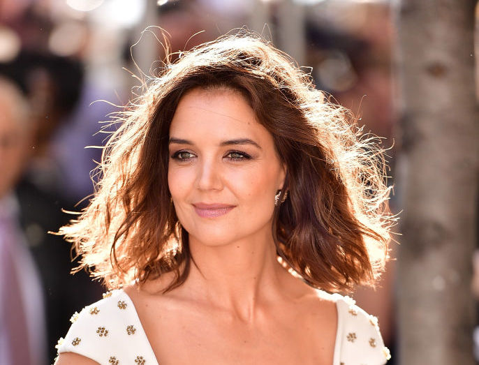 Katie Holmes' modern white gown is giving us major wedding dress inspo