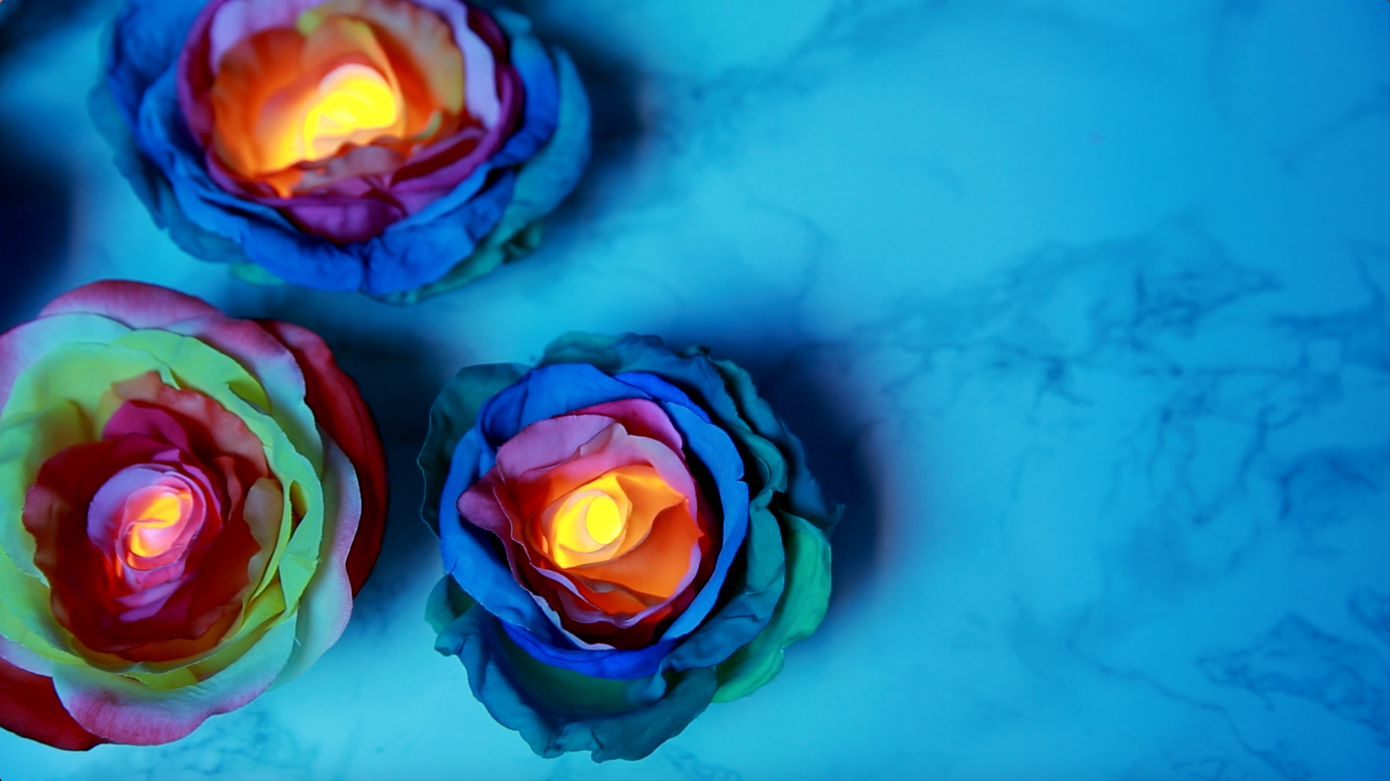 These diy rainbow rose tealights create the perfect mood for How much are rainbow roses