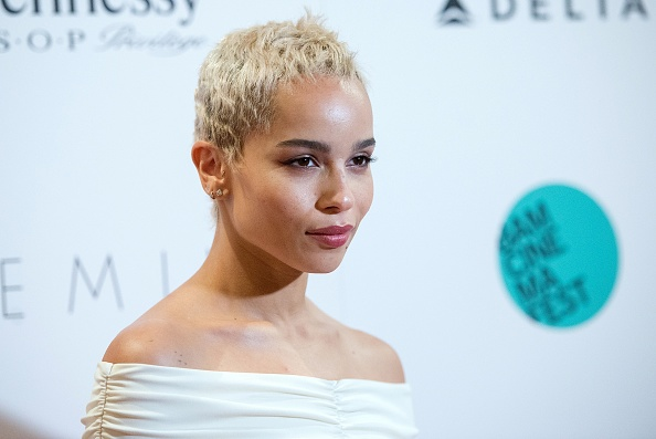 Zoë Kravitz wore the chicest Millennial pink bodice dress ever, and we want it now