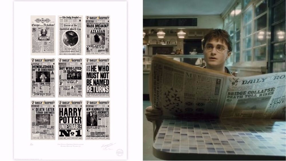 "You're going to want to hang these enchanting ""Harry Potter"" prints all over your wall — but moving pictures, not included"