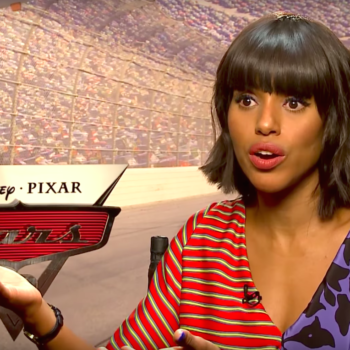 """Kerry Washington has a pretty good theory as to why """"Cars"""" takes place in a world without humans"""
