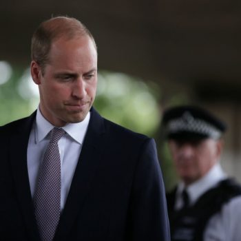 Prince William broke royal protocol and hugged a survivor of the London fire