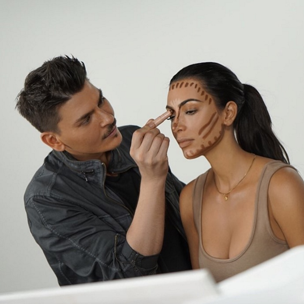 Kim Kardashian's new contour and highlighter kit is more versatile than you'd expect
