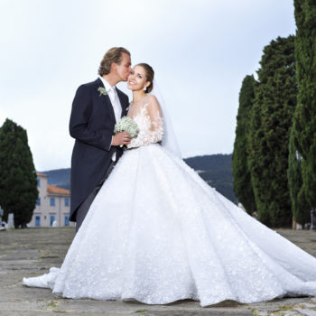 The Swarovski heiress got married, and her wedding was as glittery as you'd expect
