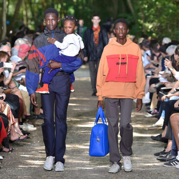 This major fashion brand went #Dadcore by sending dads and their kids down the runway