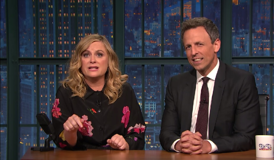 "Amy Poehler and Seth Meyers brought back one of their classic ""SNL"" bits"