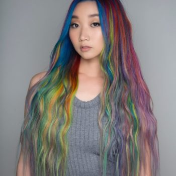 This stylist created the most gorgeous rainbow hair by using 34 different hair dyes