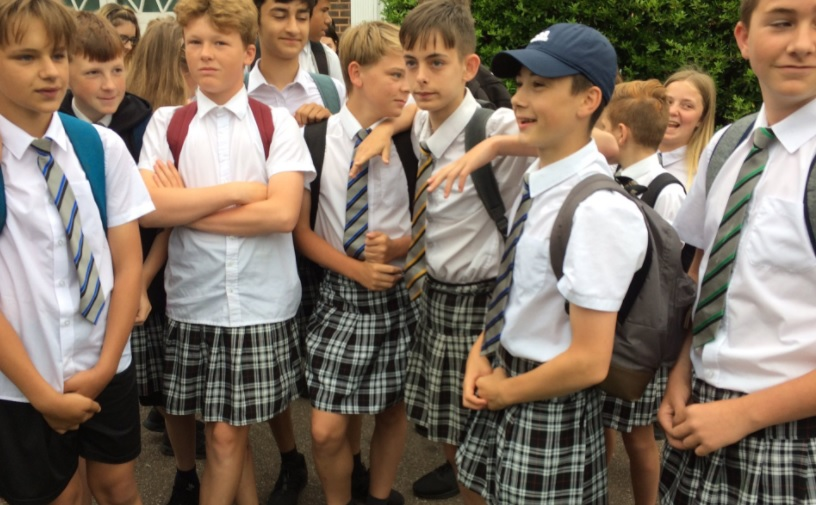 "This group of British boys wore skirts to fight their school's ""no shorts"" rule"
