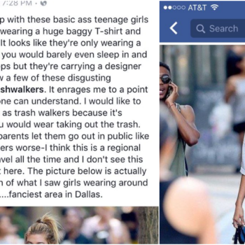 "Twitter responds to a man who is so offended by women wearing baggy shirts, he calls them ""trashwalkers"""