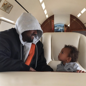 Saint West is seriously channeling his dad Kanye in this new pic
