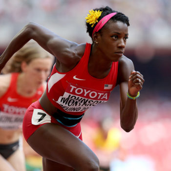 This Olympian ran a race while five months pregnant, and the photos are truly jaw-dropping
