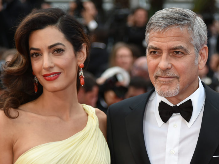 George and Amal Clooney: Twins are