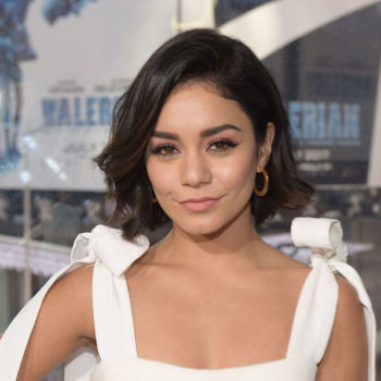 Vanessa Hudgens wore a silk robe outside of the bedroom, and we want to copy this look ASAP