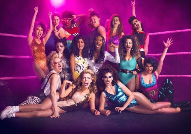 "If you're inspired by the badass ladies of ""GLOW,"" here's how to copy their '80s glam makeup"
