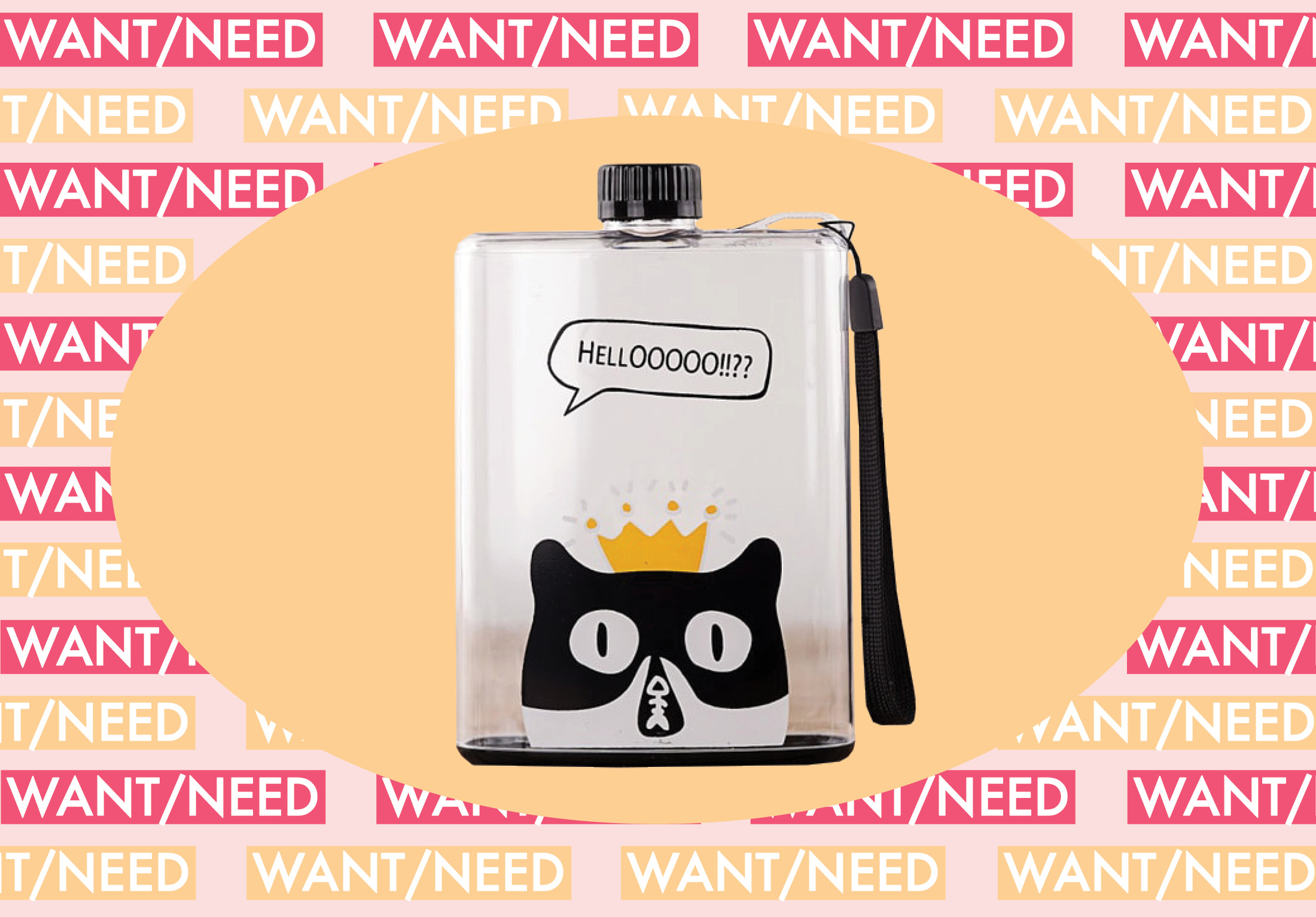 WANT/NEED: A cat flask for your water (or wine!), and more stuff you'll want to buy